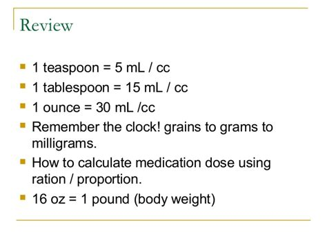 1 tablespoons to grams pediatric pharmacology07ppt