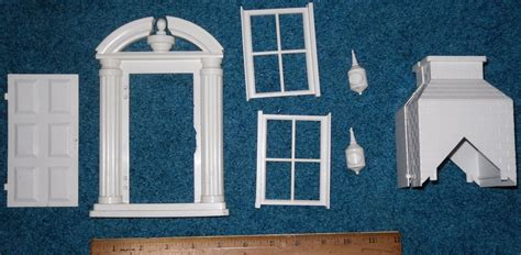 dolls house parts superior marx doll house parts door windows chimney