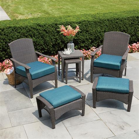 hton bay placerville brown 6 wicker patio