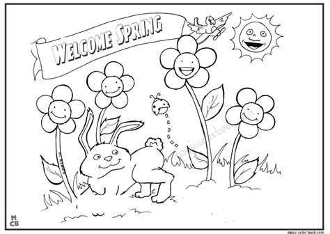 Free Coloring Pages Spring Season Coloring Home Spring Coloring Pages For Kids L
