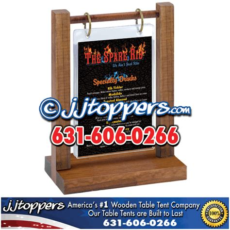 rustic table tents restaurant table tents wooden table