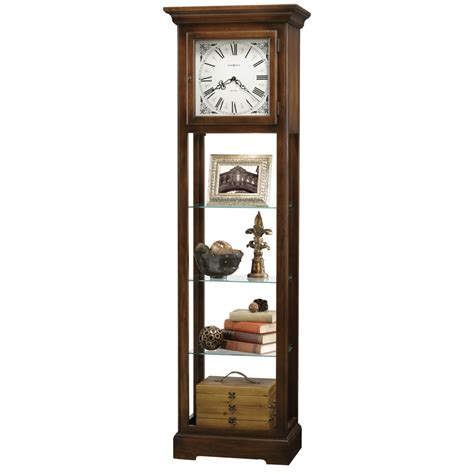 grandfather clock curio cabinet howard miller le floor clock display cabinet 611148