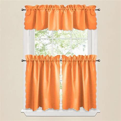 Orange Window Curtains Window Curtain Tier Pairs And Valances In Orange Bed Bath Beyond
