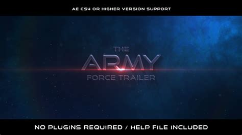 movie trailer templates for after effects the army force trailer grunge after effects templates