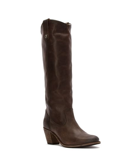 frye boots button frye s jackie button boots in brown lyst