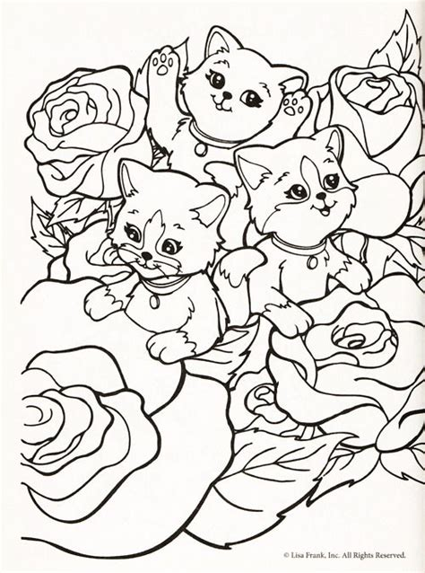 lisa frank cat coloring pages lisa frank coloring page kids birthday ideas pinterest