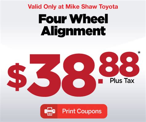 Mike Shaw Toyota Save Big With Service Specials At Mike Shaw Toyota