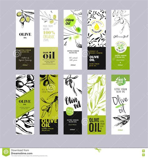 Olive Oil Labels Collection Stock Vector Illustration Of Collection Health 73130495 Olive Labels Templates