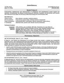 resume data analysis resume sle what does a data