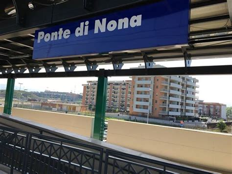 ponte di nona aperta a ponte di nona la nuova stazione ferroviaria