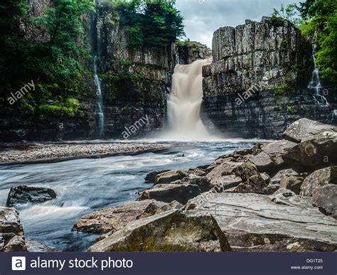 high force waterfall on the river tees photo walking britain high force waterfall on the river tees co durham england