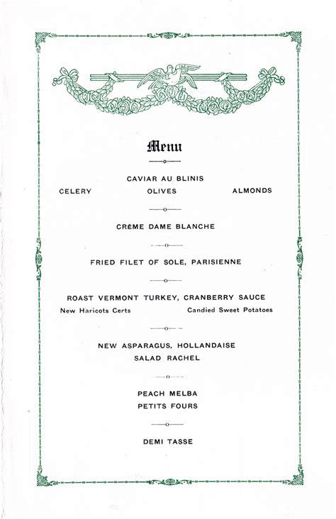 dinner menus for 10 dinner menu s s leviathan 1928