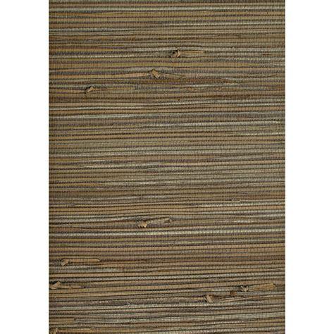 shop allen roth dark grey grasscloth unpasted textured grasscloth wallpaper lowes