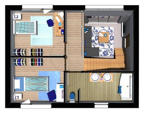 cr馥r sa chambre 3d plan maison 85m2 3 chambres gratuit plan n 176 35 univia