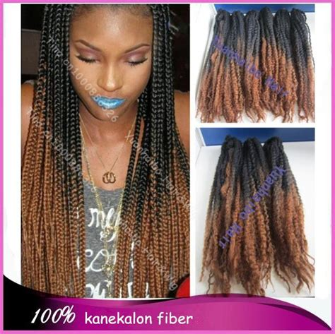 two toned braids stock cheap price 20 quot fold colored two tone black brown