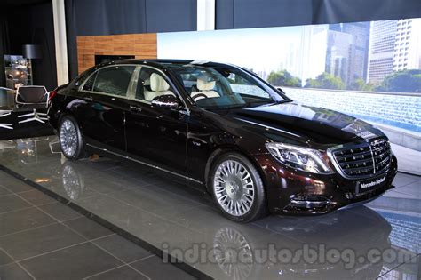 mercedes maybach s600 front quarters india launch indian