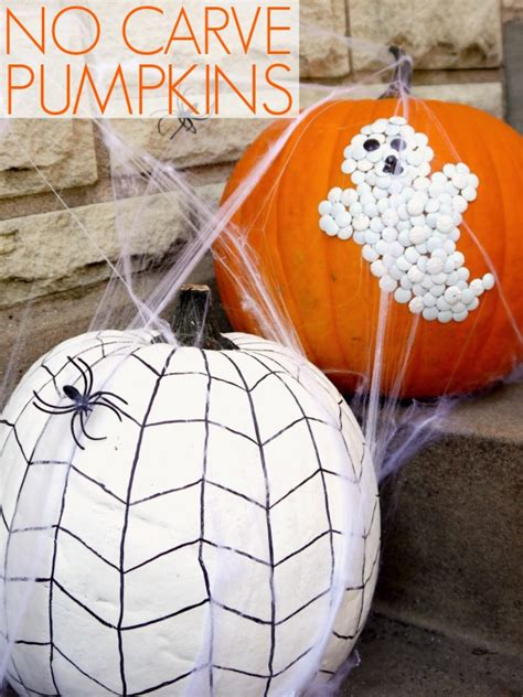 Pumpkin Decorating Ideas Without Carving by No Carve Pumpkin Decorating C R A F T