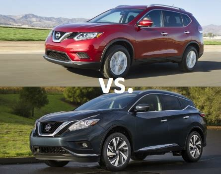 nissan rogue or murano best nissan suv 2016 rogue vs 2016 murano u s news