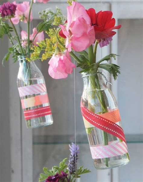 washi tape craft ideas washi tape vase and jar decor