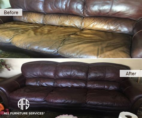 restore leather couch color gallery before after pictures all furniture services 174