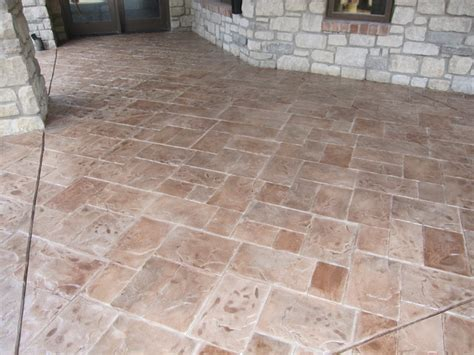concrete patio with sted concrete overlay modern