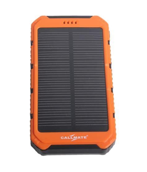 Power Bank Solar 12000mah callmate solar 12000mah power bank orange power banks at low prices snapdeal india