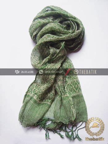 Syal Batik Batik jual syal batik warna hijau pupus thebatik co id