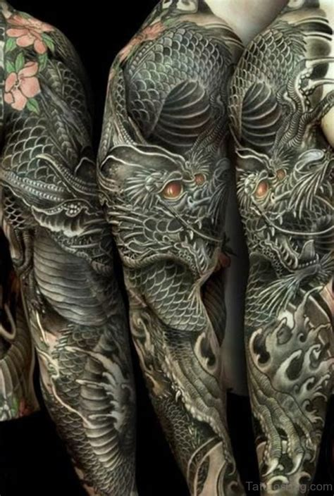 dragon tattoo pics sleeve 50 best dragon tattoos on full sleeve
