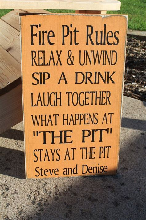 backyard fire pit laws fire pits typography and signs on pinterest