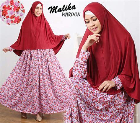 Gamis Nada Syari Hijau Gamis Murah Gamis Cantik baju gamis cantik murah b103 malika syar i motif bunga