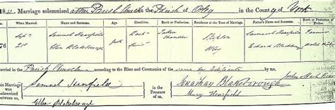 Leeds Birth Records Samuel Whitehead Hearfield B 1820 At Burley In Wharfedale And His Family