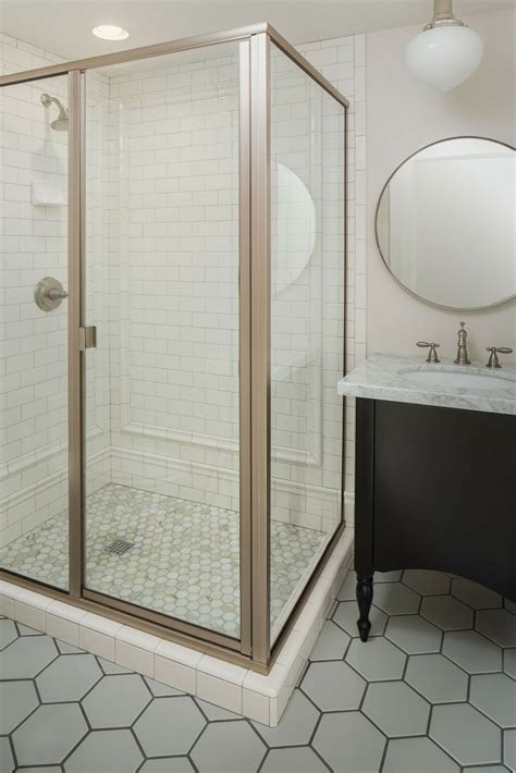 white and gold bathroom white gold honeycomb tile calcutta marble tile