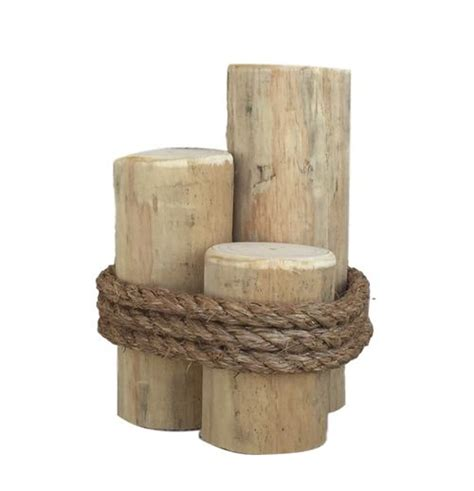 Wood 3 Pier Post Tealight 3 Post Wooden Piling Pier Post 12 Quot
