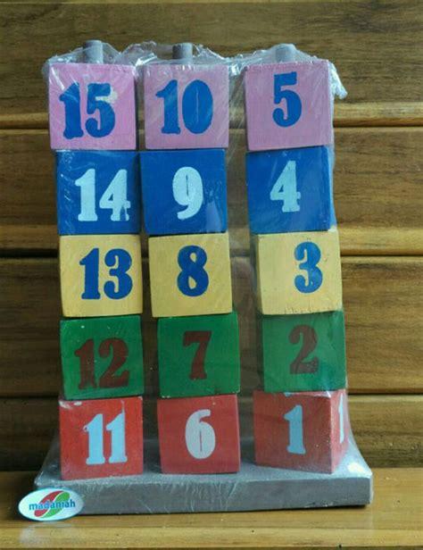 Menara Angka Mainan Edukasi alat peraga edukasi menara angka