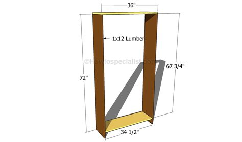 Building A Wardrobe Frame by How To Build An Armoire Wardrobe Howtospecialist How