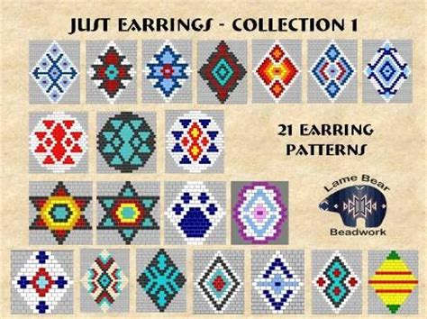 collection beading patterns volume 1 books free brick stitch earring patterns lena patterns