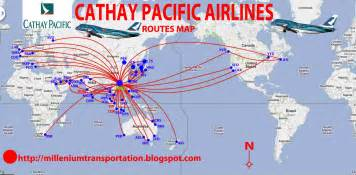 Flight Route Map by Routes Map Cathay Pacific Airways Routes Map