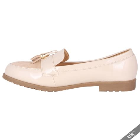 womens suede patent leather casual office loafers