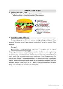 writing a topic sentence worksheet free esl printable