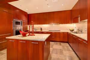 cherry wood kitchen cabinets photos