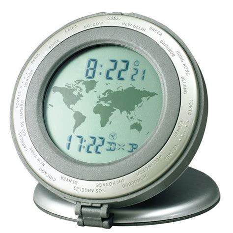 world travel table clock with dual local world time display buy now