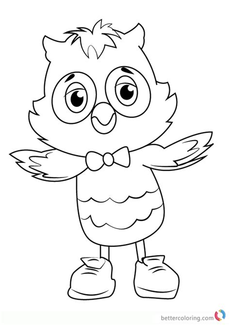 O The Owl Coloring Page by Daniel Tiger Coloring Pages Free Bltidm