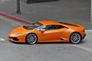 Lamborghini Huracan Orange Spyshots Orange Lamborghini Huracan Racing In The