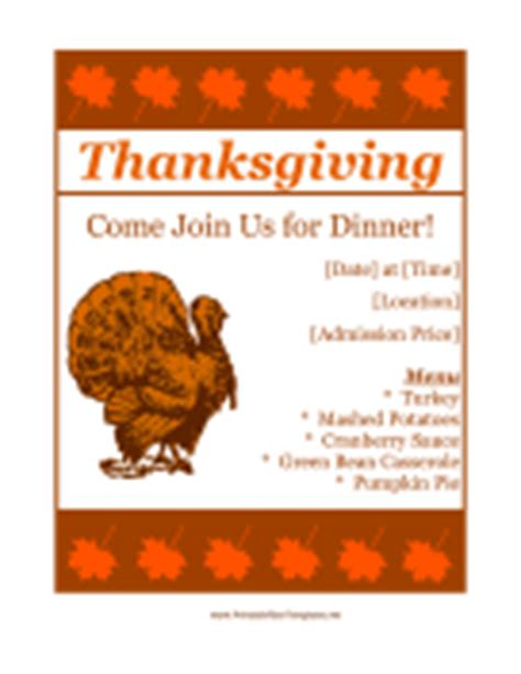 Party And Event Flyers Free Thanksgiving Food Drive Flyer Template