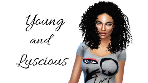 ebonix sims the sims 4 i create a sim i young and luscious