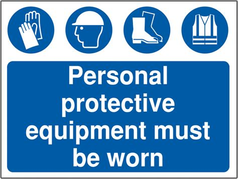 Kaos Warning At Any Time High Quality personal protective equipment must construction signs