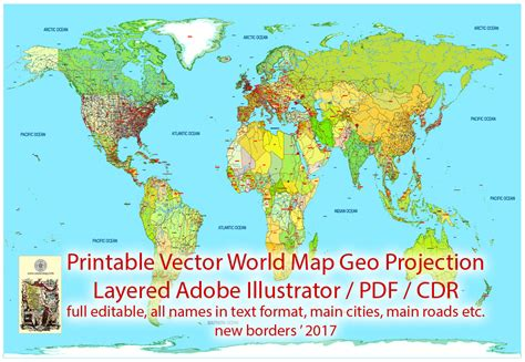 printable world map sparklebox printable vector world map detailed political updated 2017