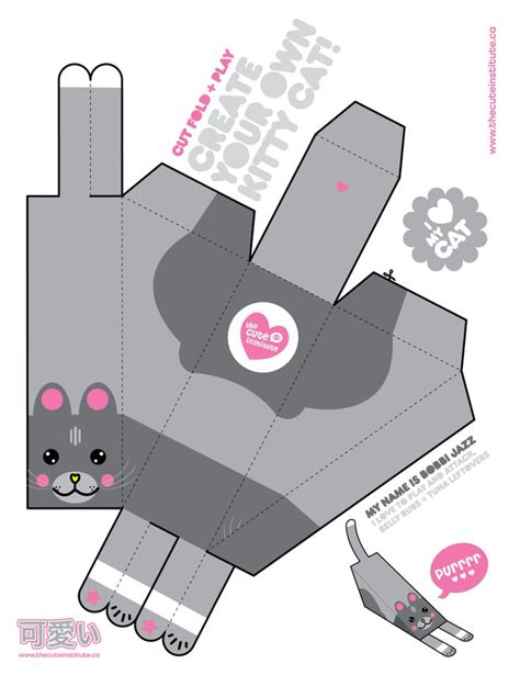 Kawaii Papercraft - 356 best images about assorted free printable cubees on