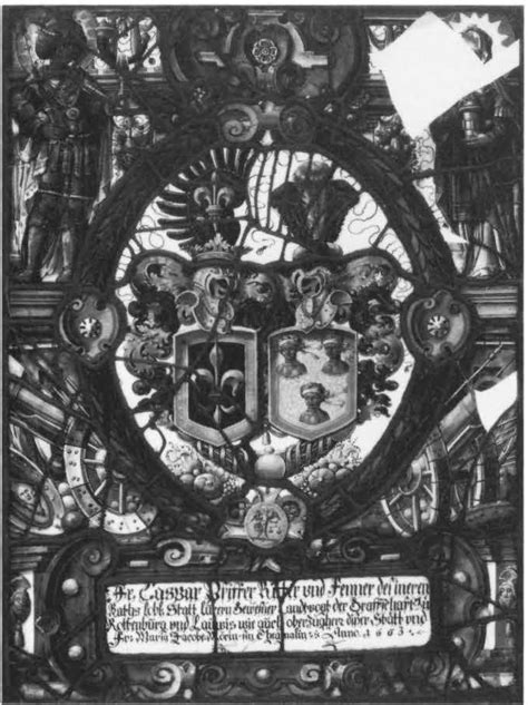 heraldic panel with arms of pfizer and mohr corpus