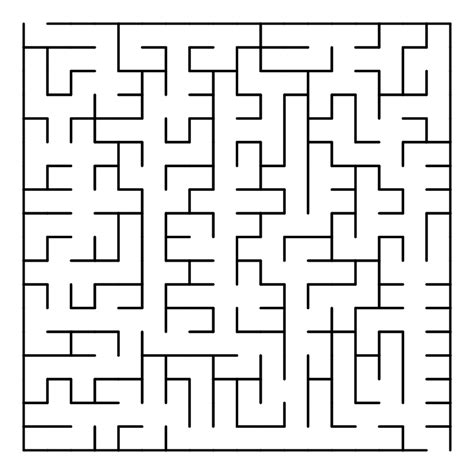 How To Make A Maze On Paper - file prim maze svg wikimedia commons